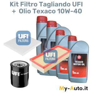 tagliando filtri ufi + olio 10w 40 texaco