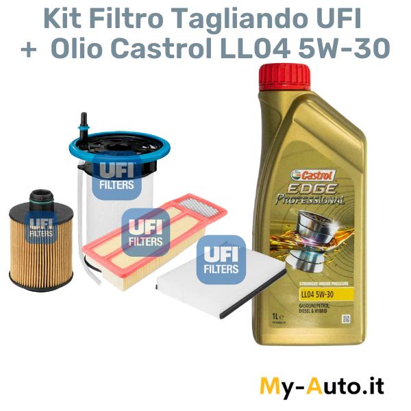 kit tagliando filtro + olio fiat 500 1.3 mjt