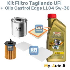 kit tagliando filtro + olio Castrol Edge LL04 5W-30