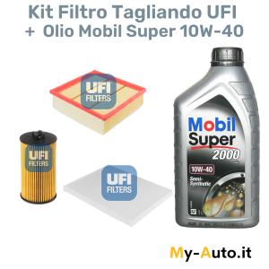 kit filtri + olio motore Mobil Super 2000 10W-40