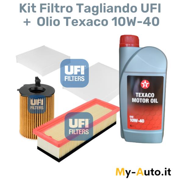 kit tagliando filtro + olio texaco 10w-40