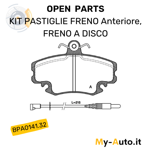 pastiglie freno open parts bpa0141.32