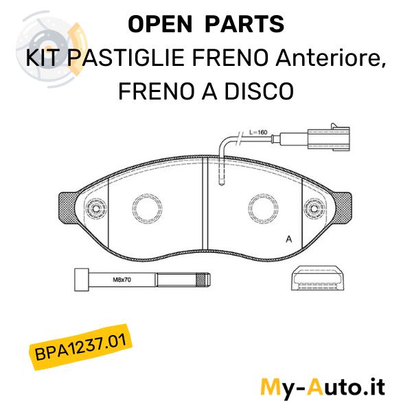 serie pastiglie freno disco anteriori open parts bpa1237.01