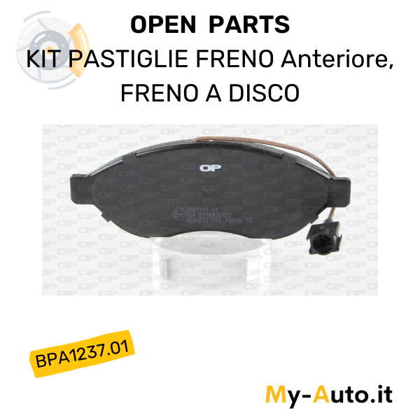 serie pastiglie freno disco anteriori openparts bpa1237.01