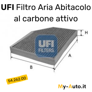 ufi filtro al carbone attivo UFI cod 54.262.00