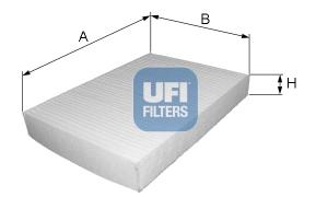 filtro abitacolo UFI cod 53.124.00